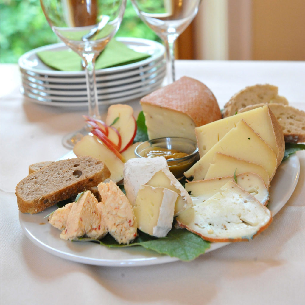 Cheese plate with bread