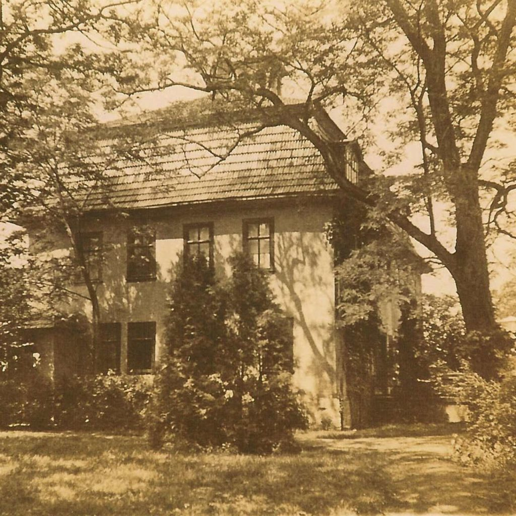 Manor house at times of the spa black and white