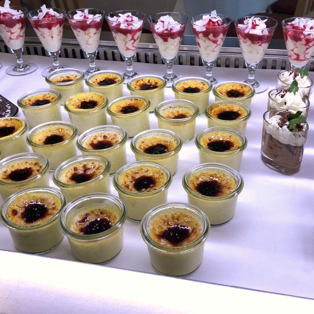 Desert varieties on cooling buffet