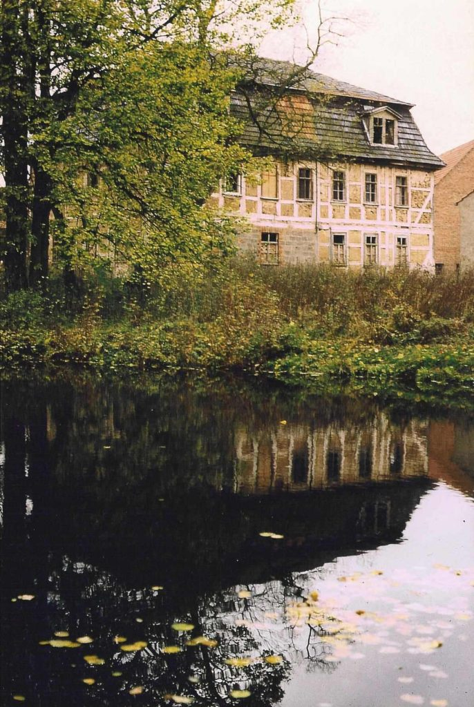 Manor house with pond