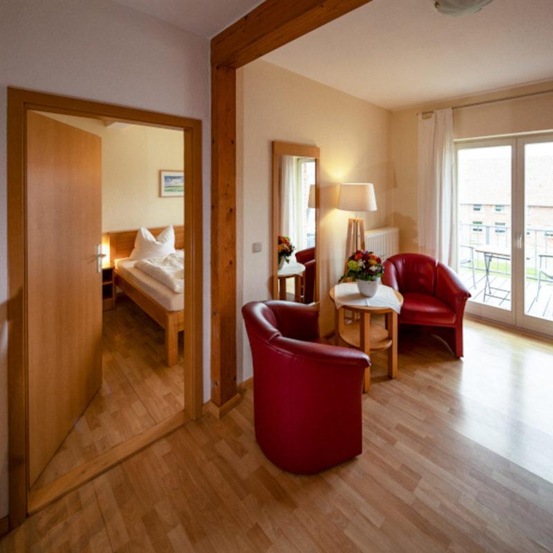 Appartement für zwei mit Balkon